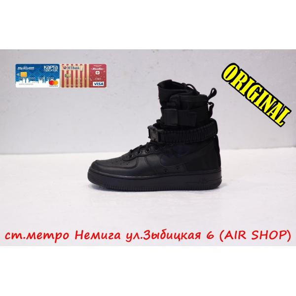 Кроссовки Nike air force sf Black/Black
