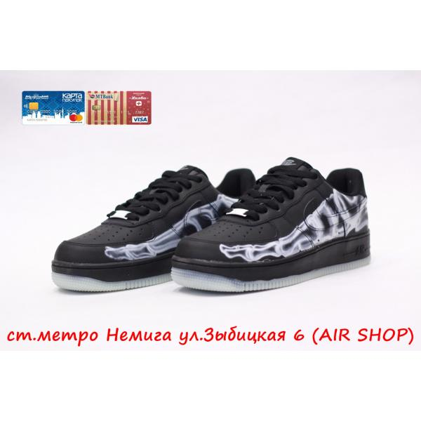 Кроссовки Nike Air Force 1 skeleton Black