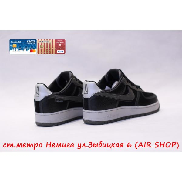 Кроссовки Nike Force 1 Black Leat