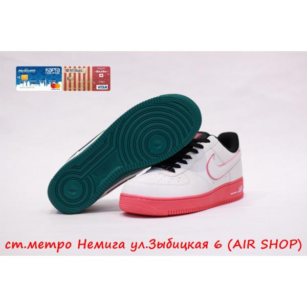 Кроссовки Nike Air Force 1  07 LE  green/pink