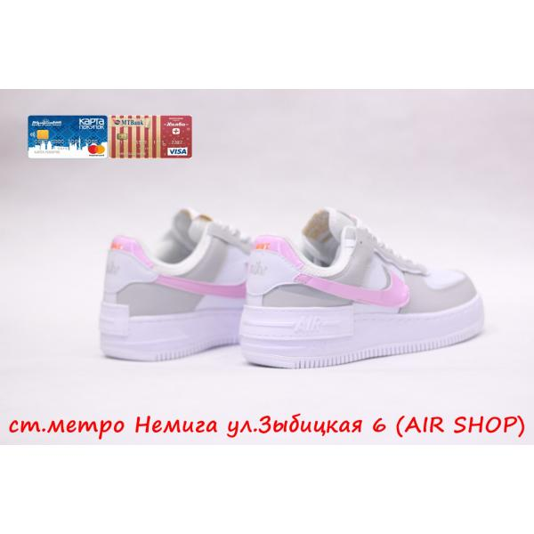 Кроссовки Nike Air Force Shadow grey/pink