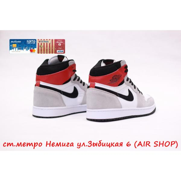 Кроссовки Nike Air Jordan 1 Grey/Red