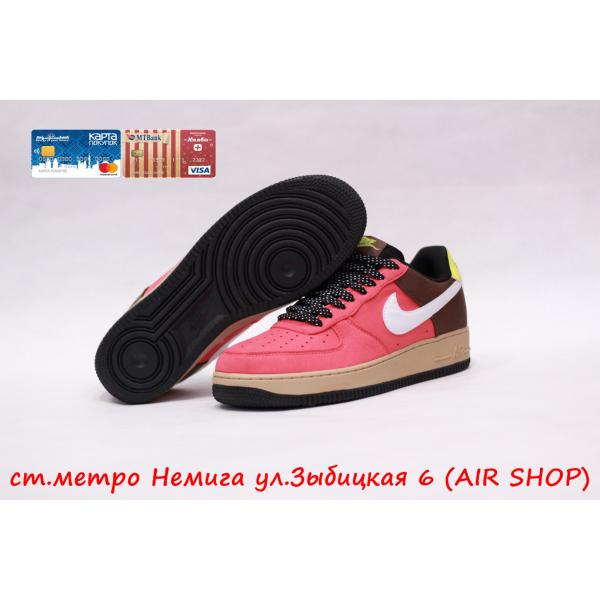 Кроссовки Nike Air Force 1 '07 red/brown