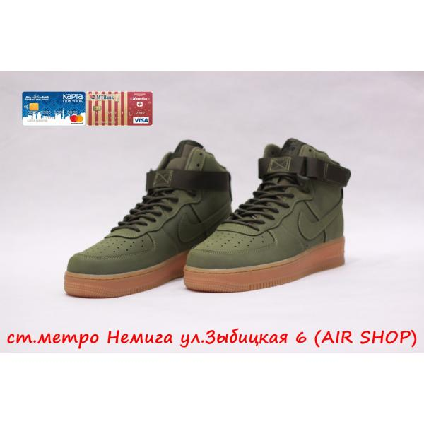 Кроссовки Nike Air Force 1 Mid Green