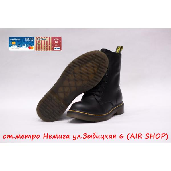Кроссовки DR.MARTENS replica black smooth lux
