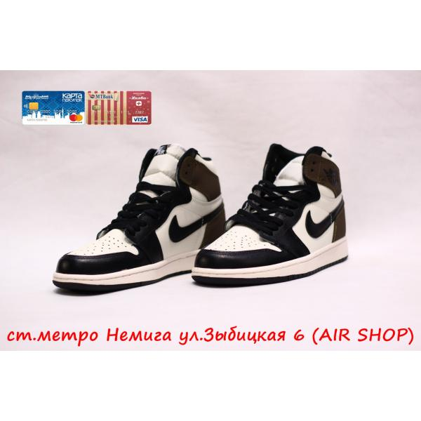Кроссовки Nike Air Jordan 1 black/brown