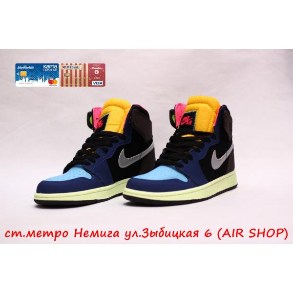 Кроссовки Nike Air Jordan 1 blue/brown