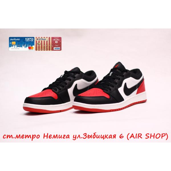 Кроссовки Nike Air Jordan 1 low Black/Red