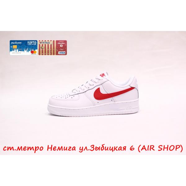 Кроссовки Nike Air Force 1 low red/white