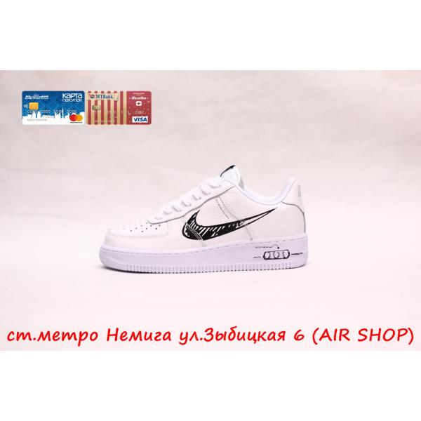 Кроссовки Nike Air Force 1 Sketch Pack White