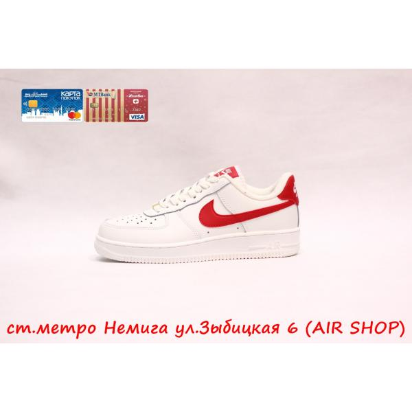 Кроссовки Nike Air Force 1 Wh-red