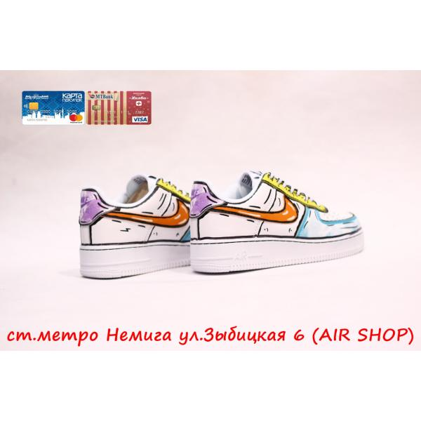 Кроссовки Nike Air Force Custom Cartoon