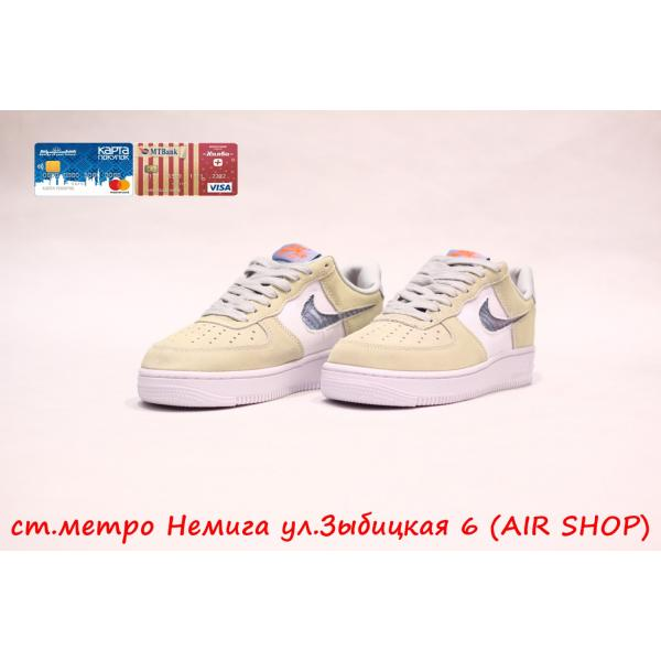 Кроссовки Nike Air Force SUEDE BEIGE /WHITE