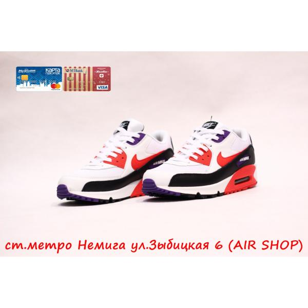 Кроссовки Nike Air Max 90 Red/fiol